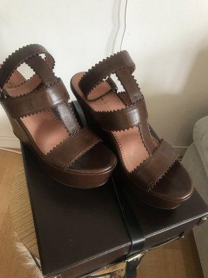 Alaïa Plateauzool sandalen bruin