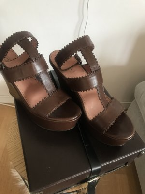 Alaïa Platform Sandals brown