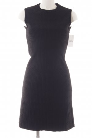 Alaïa Stretch Dress black abstract pattern elegant