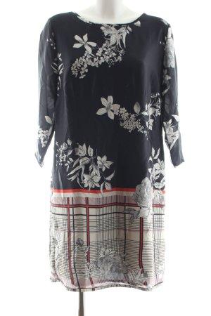 Alba Moda A-Linien Kleid Blumenmuster Casual-Look