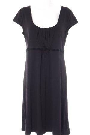 Alba Moda Robe trapèze noir élégant