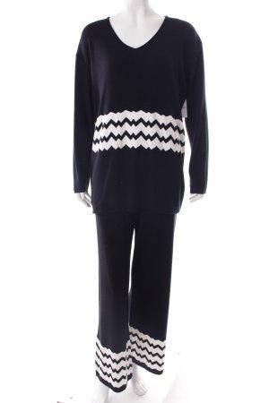 Alba Moda Anzug schwarz-weiß Zackenmuster sportlicher Stil