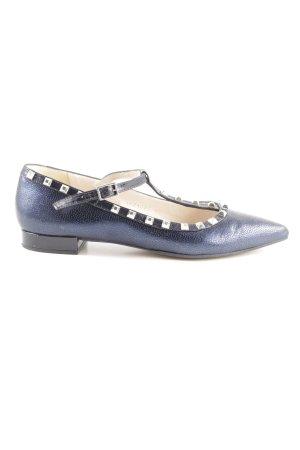 Alba Moda Ballerinas mit Spitze blau Business-Look