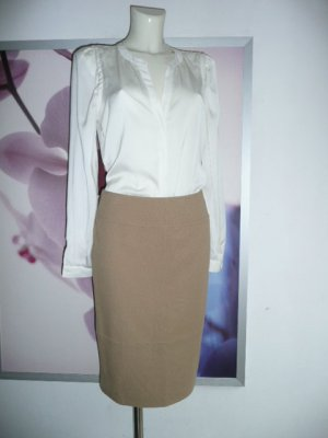Alba Moda Basic Bleistift Rock Pencil Skirt Uni Camel Beige Gr 36
