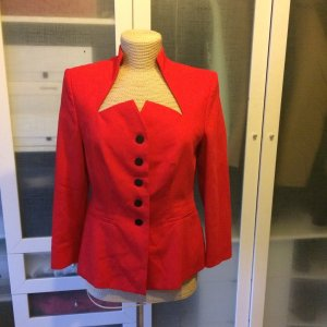 Alba Moda Long Blazer neon red new wool