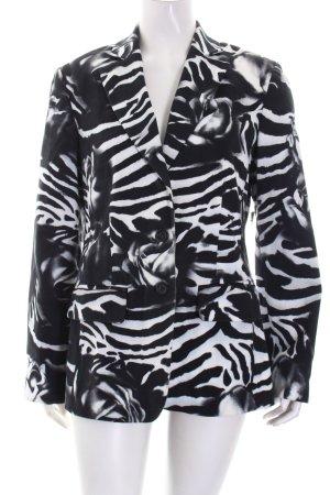 Alba Moda Blazer schwarz-weiß Animalmuster extravaganter Stil