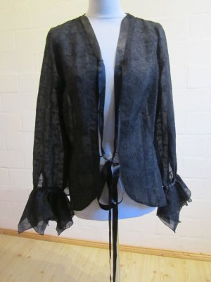 ALBA MODA: Blusenjacke aus Spitze, schwarz, Gr. 40
