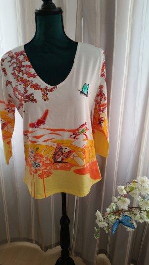 Alba Moda V-hals shirt veelkleurig