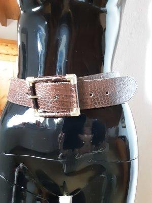 Alba Moda Leather Belt gold-colored-brown