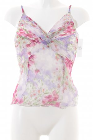 Alba Moda Camisole rosa-weiß Blumenmuster Romantik-Look