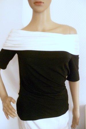 Alba Moda Shirt zwart-wolwit Viscose