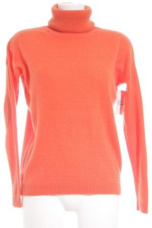 Alba Moda Cashmere Jumper neon orange casual look
