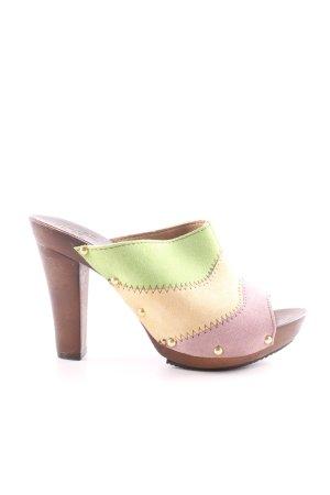 Alba Moda Clog Sandals striped pattern casual look