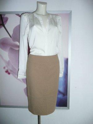 Alba Moda edler Bleistift Rock Pencil Skirt stretchig samtig Camel / Braun Gr 36