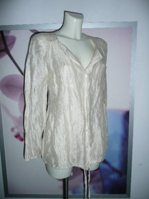 Alba Moda Eyecatcher Long Bluse Metallic Optik creme farbend Gr 38-40