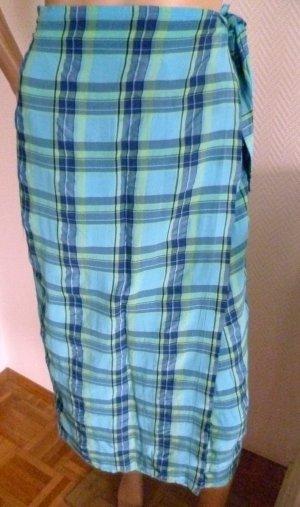 Alba Moda Wikkelrok turkoois-donkerblauw