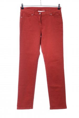 Alba Moda Pantalón de cinco bolsillos rojo look casual