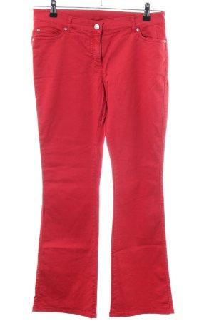 Alba Moda Pantalon cinq poches rouge style décontracté