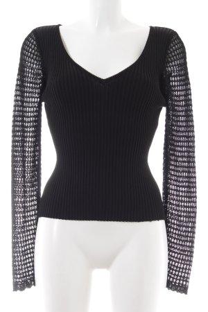 Alba Moda Gehaakte trui zwart casual uitstraling
