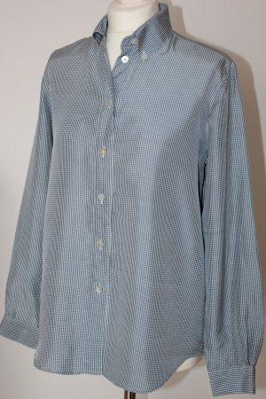 Alba Moda Zijden blouse wit-leigrijs Zijde