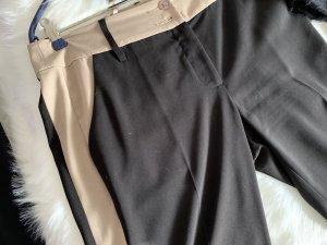 Alba Moda Pantalon en jersey beige-noir tissu mixte