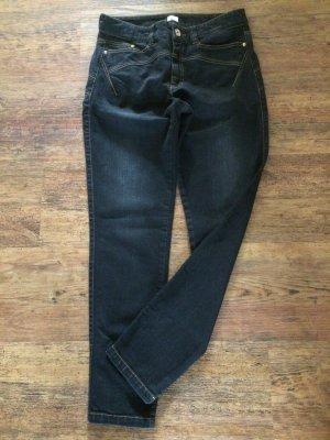 Alba Moda Jeans a vita alta nero