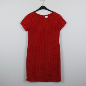 Alba Moda Jurk met korte mouwen zwart-rood Polyester
