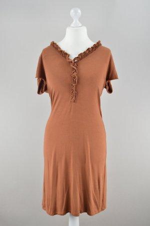 Alba Moda Kleid mit Rüschen orange Größe 44
