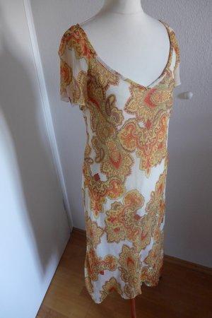 Alba Moda Kleid Paisley Ibiza Sommer weiß orange Gr 42/44