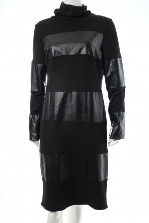 Alba Moda Kleid schwarz Lederelemente