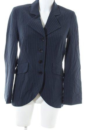 Alba Moda Blazer corto blu-bianco motivo a righe stile professionale