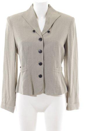 Alba Moda Blazer court blanc cassé-gris clair Motif de tissage