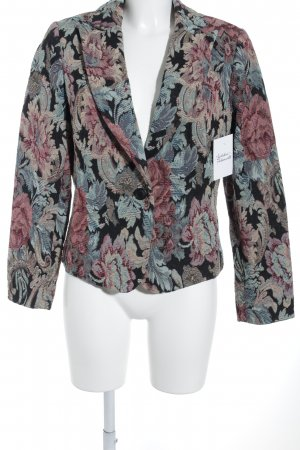 Alba Moda Kurz-Blazer florales Muster klassischer Stil