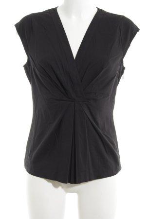 Alba Moda Blouse met korte mouwen zwart zakelijke stijl
