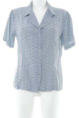 Alba Moda Kurzarm-Bluse weiß-schwarz abstraktes Muster Casual-Look
