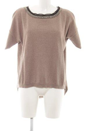 Alba Moda Jersey de manga corta marrón look casual