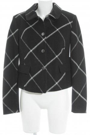 Alba Moda Kurzjacke schwarz-weiß Karomuster klassischer Stil