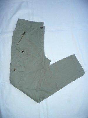 Alba Moda lässig schmale Cargo Hose Army Pants m Beintaschen olive khaki