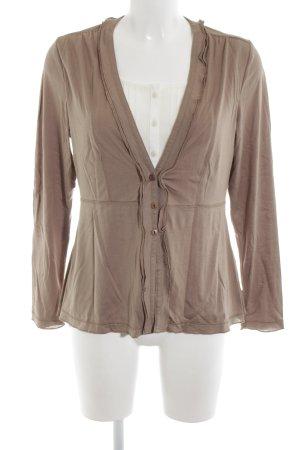 Alba Moda Langarm-Bluse nude-weiß Casual-Look