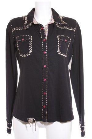 Alba Moda Langarm-Bluse mehrfarbig sportlicher Stil