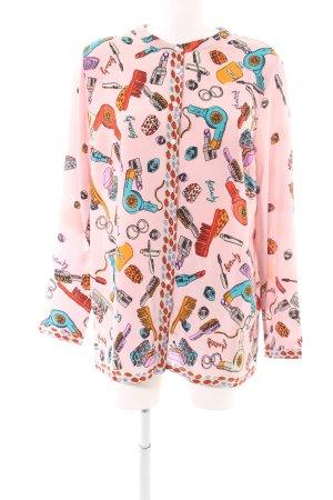 Alba Moda Blouse met lange mouwen roze volledige print casual uitstraling