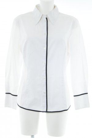 Alba Moda Long Sleeve Blouse white-black color blocking elegant