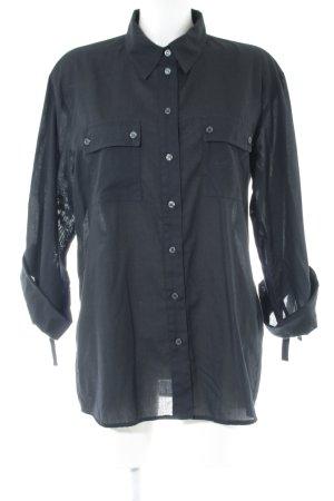 Alba Moda Camicia a maniche lunghe nero stile casual