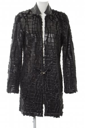 Alba Moda Giacca lunga nero stile stravagante