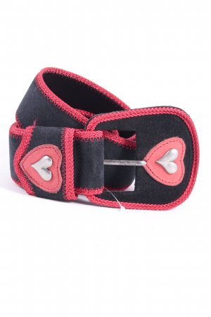 Alba Moda Leather Belt black-red classic style
