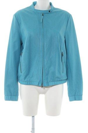 Alba Moda Veste en cuir bleu style décontracté