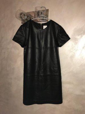Alba Moda Leather Dress black leather