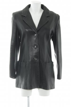 Alba Moda Ledermantel schwarz schlichter Stil