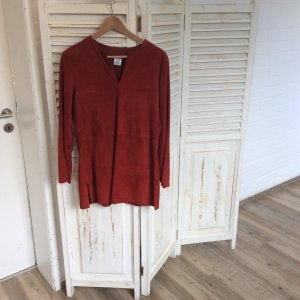 Alba Moda Tunic Blouse carmine-dark red leather