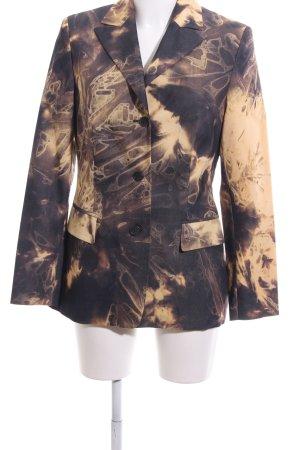 Alba Moda Lange blazer bruin abstract patroon zakelijke stijl